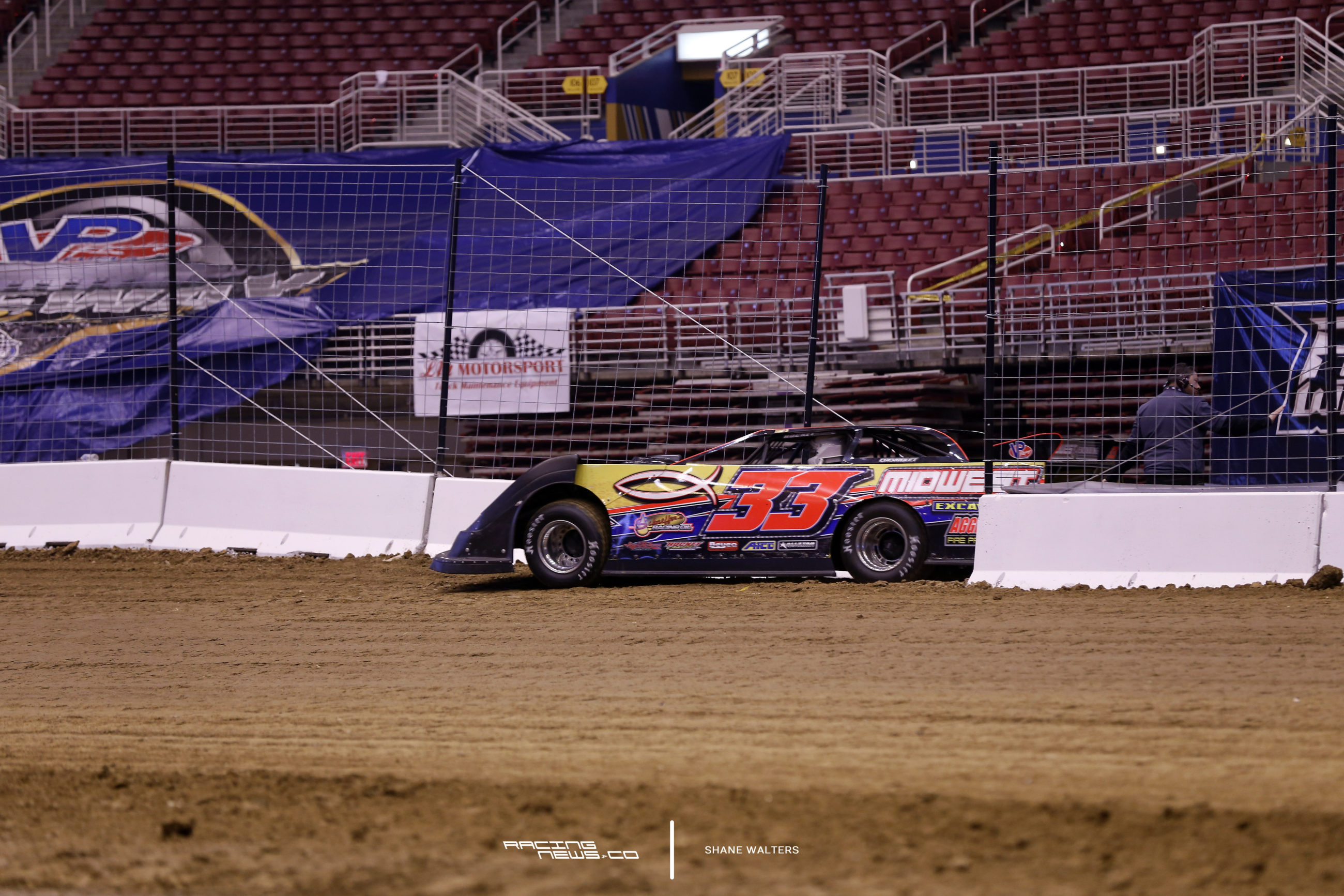First Car on Track at Gateway Dirt Nationals 5294