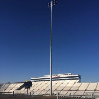 First Martinsville Speedway Lights Installed