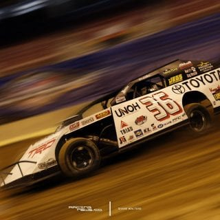 Kenny Wallace Motion Blur Dirt Modified - Gateway Dirt National Photo 4992
