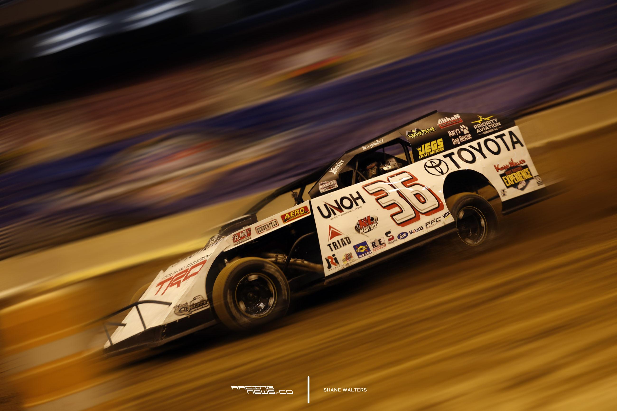 Kenny Wallace Motion Blur Dirt Modified - Gateway Dirt Photos 4992