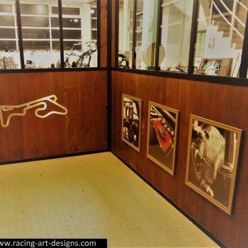 Racing Art Designs - Stainless Steel Racing Track Sculptures - Garage Art