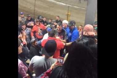 Tony Stewart Confronts Fan at The Chili Bowl