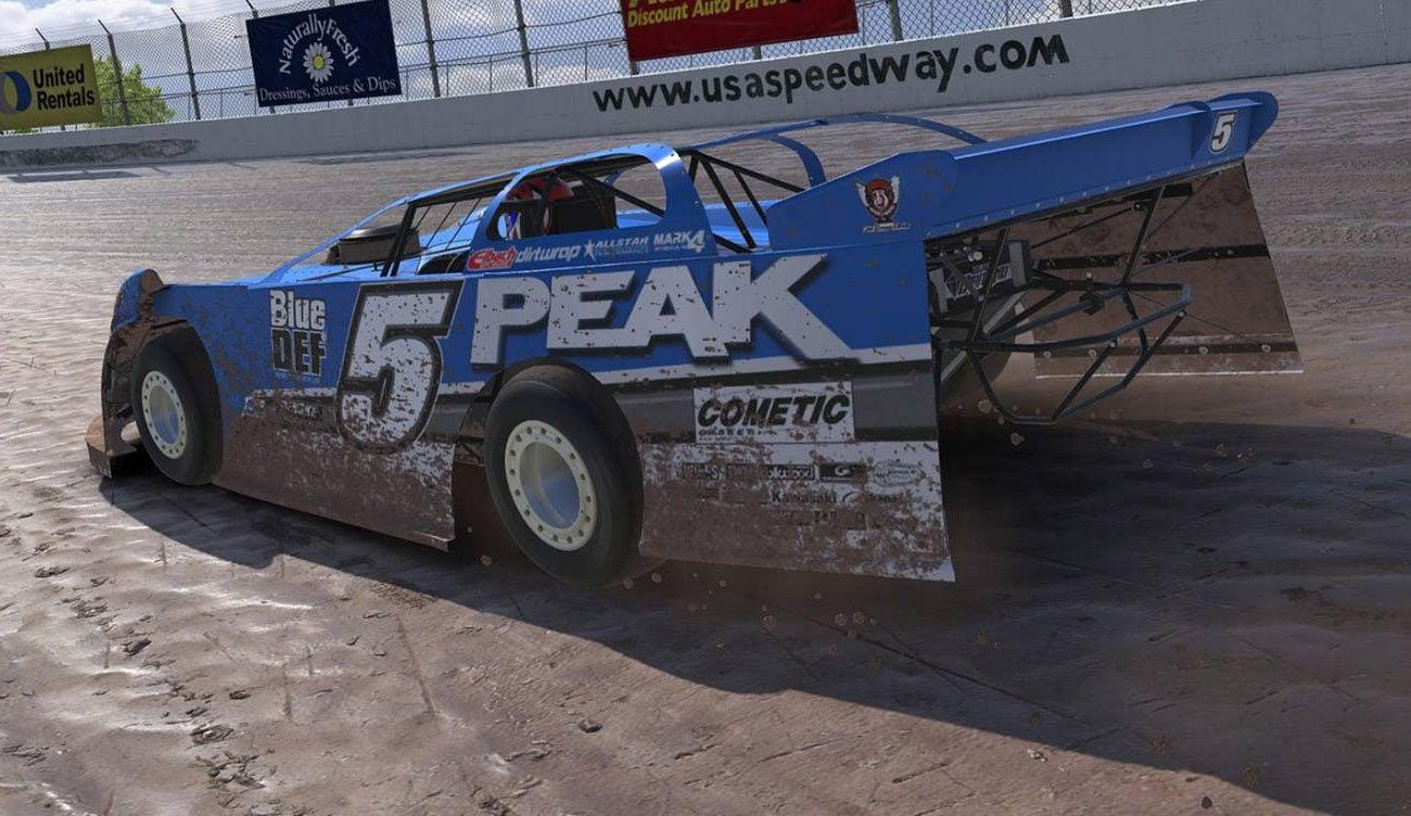 iRacing Dirt Screenshot - USA Speedway Dirt Track - Header