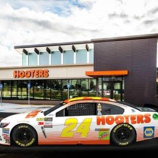 2017 Chase Elliott Hooters NASCAR Racecar