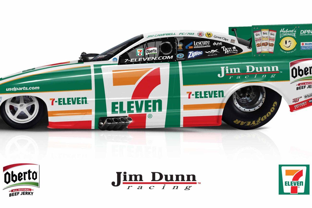 7-Eleven Funny Car - Jim Dunn Racing - NHRA Drag Racing