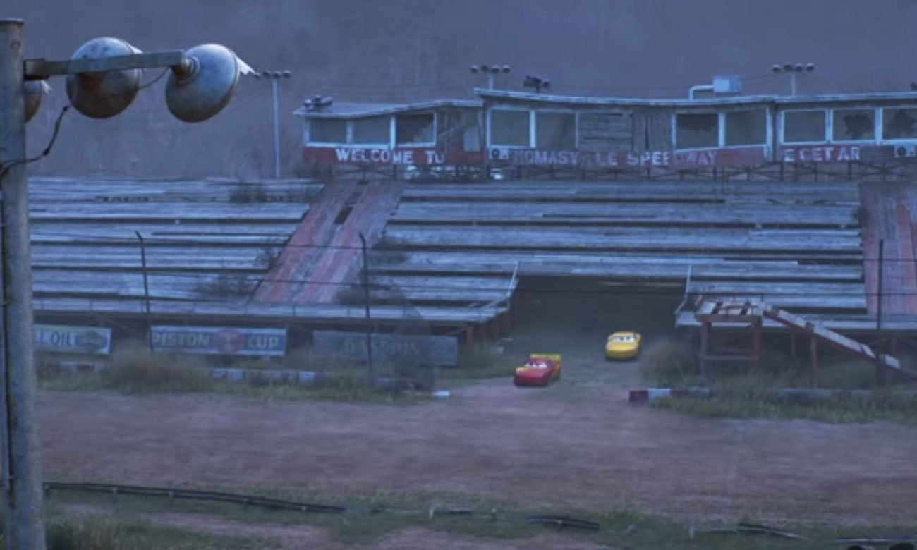 Cars 3 Thomasville Speedway Dirt Racing Track