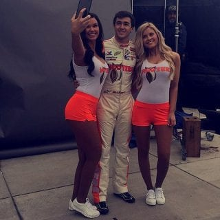 Chase Elliott with Hooters Girls