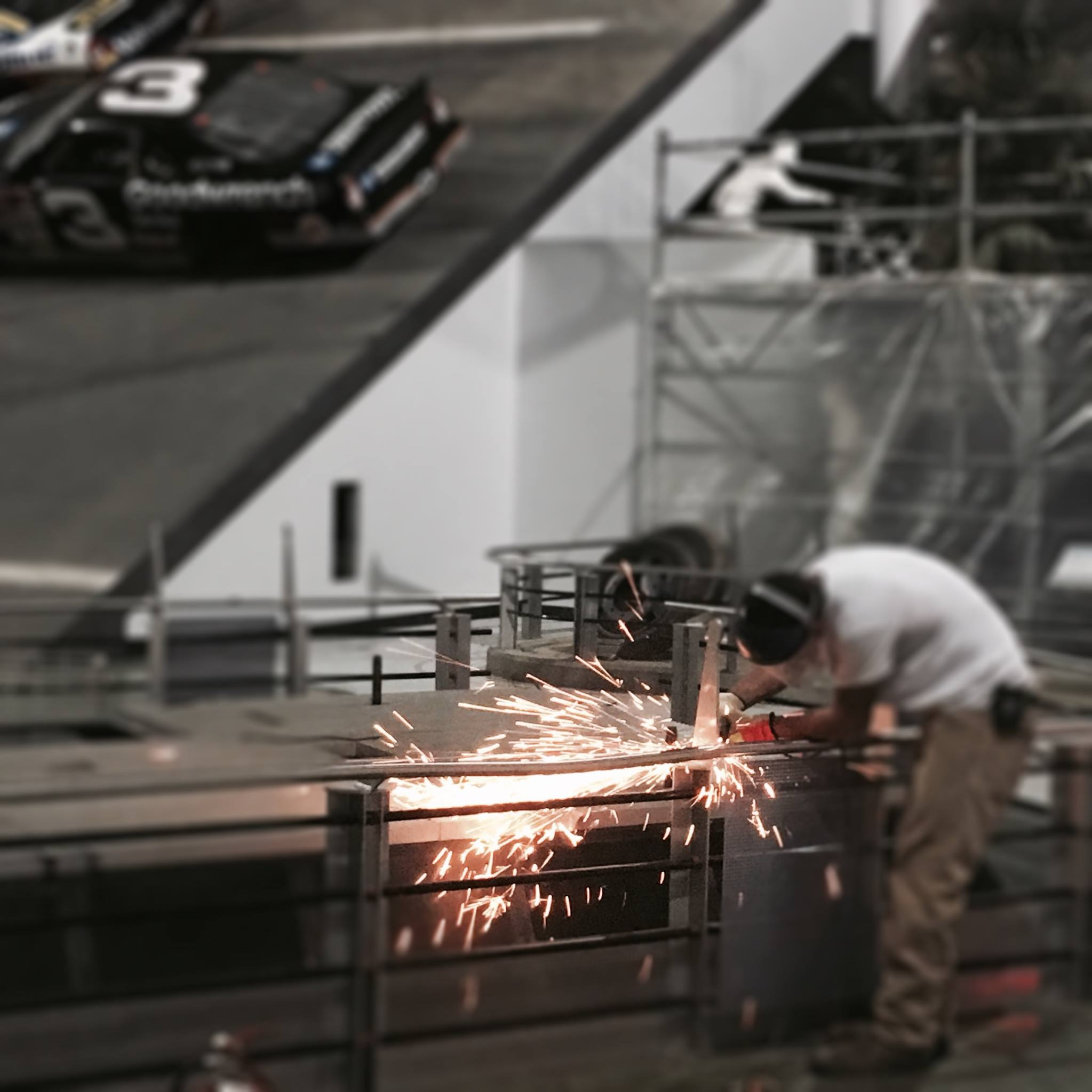 Motorsports Hall of Fame of America Track Wall Construction Photos