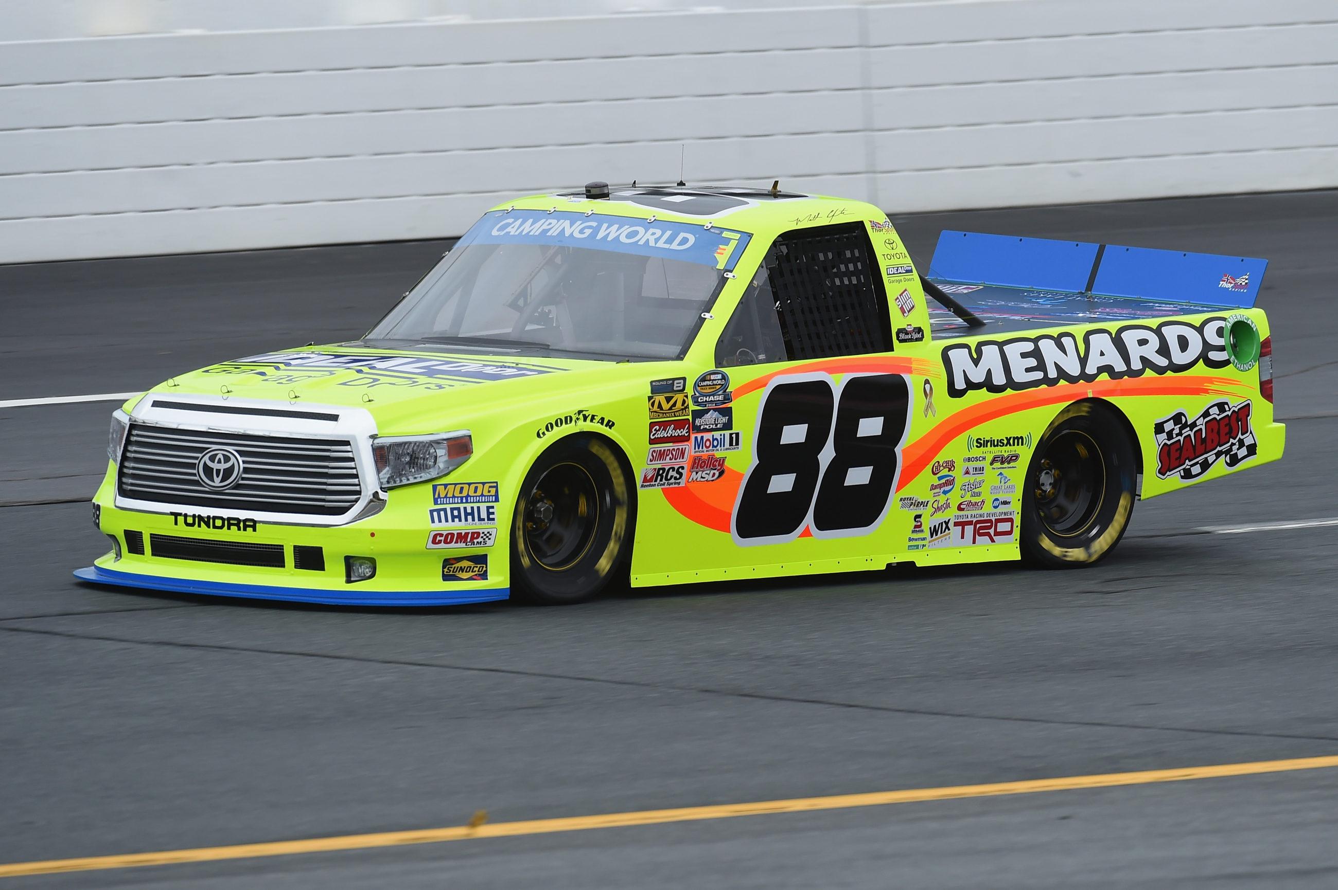 NASCAR Truck Series Windshield Logo - Matt Crafton