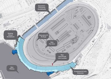 Phoenix Raceway New Track Layout - Dogleg Configuration
