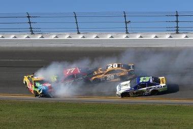 2017 Daytona 500 - Kyle Busch NASCAR Crash