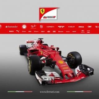 2017 Ferrari F1 Car Photos - SF70H