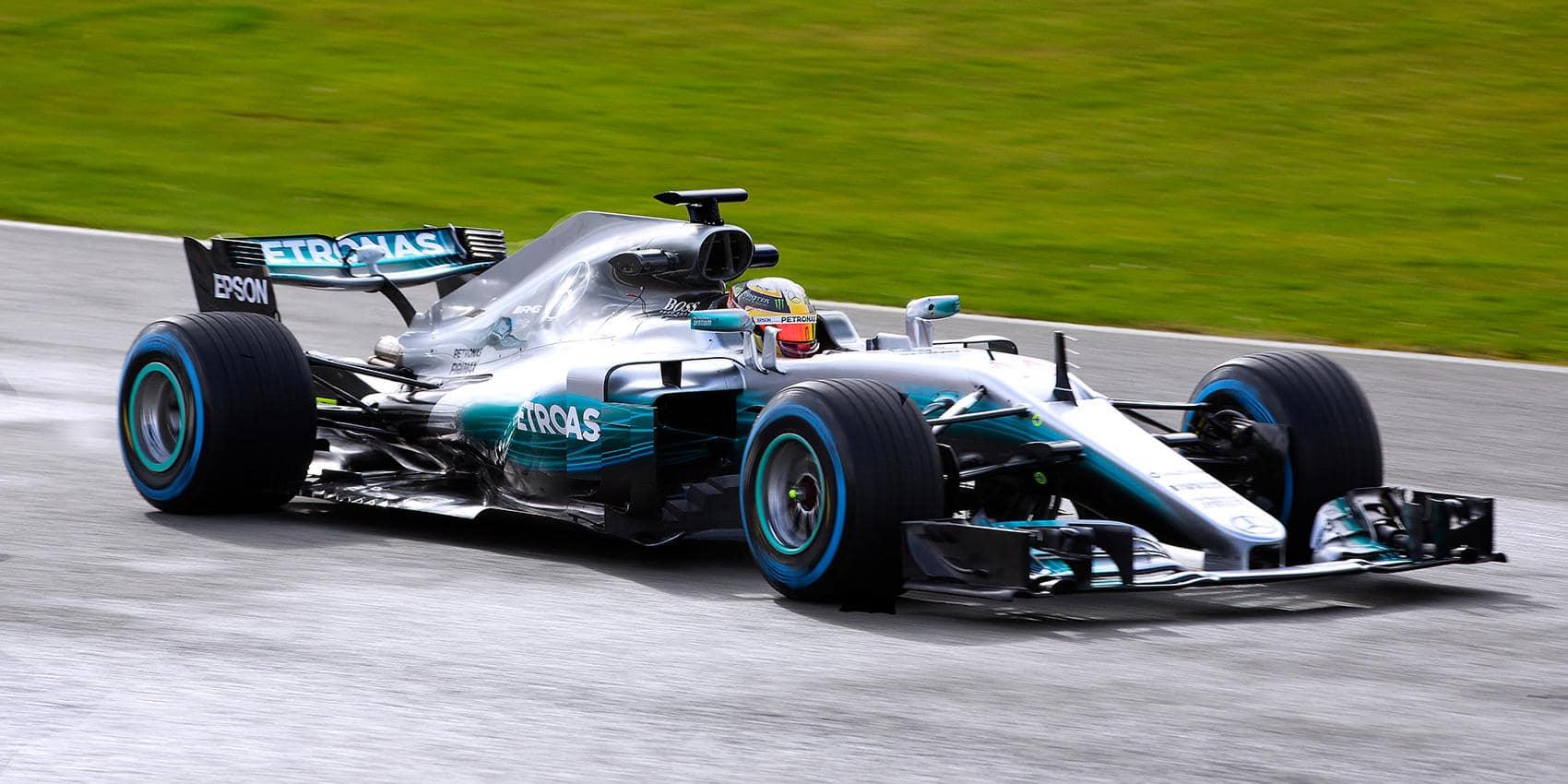 2017 Mercedes-AMG Petronas F1 Car On Track Photos - W08