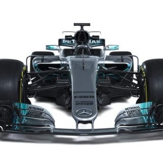 2017 Mercedes F1 Car Photos - W08 Chassis