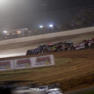 Billy Moyer Jr and Scott Bloomquist Wreck at Golden Isles Speedway 2105