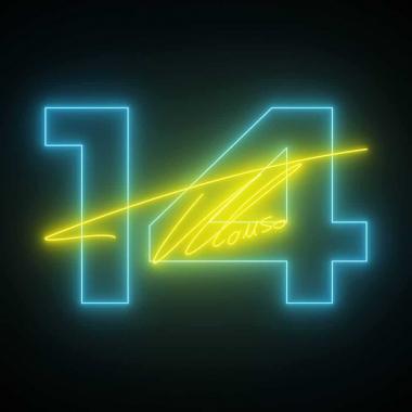 Fernando Alonso Neon Number 14