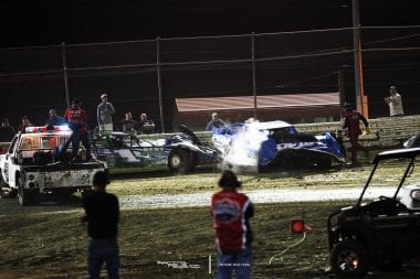 Josh Richards Crash Bubba Raceway Park 8491