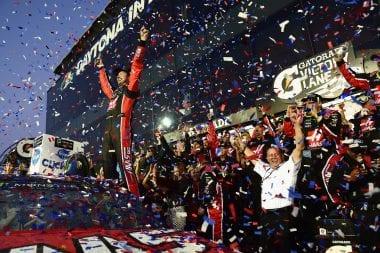 Kurt Busch Daytona 500 Victory Lane 2017 - Stewart-Haas Racing