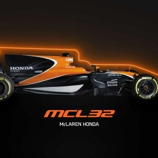 MCL32 Orange Mclaren Honda