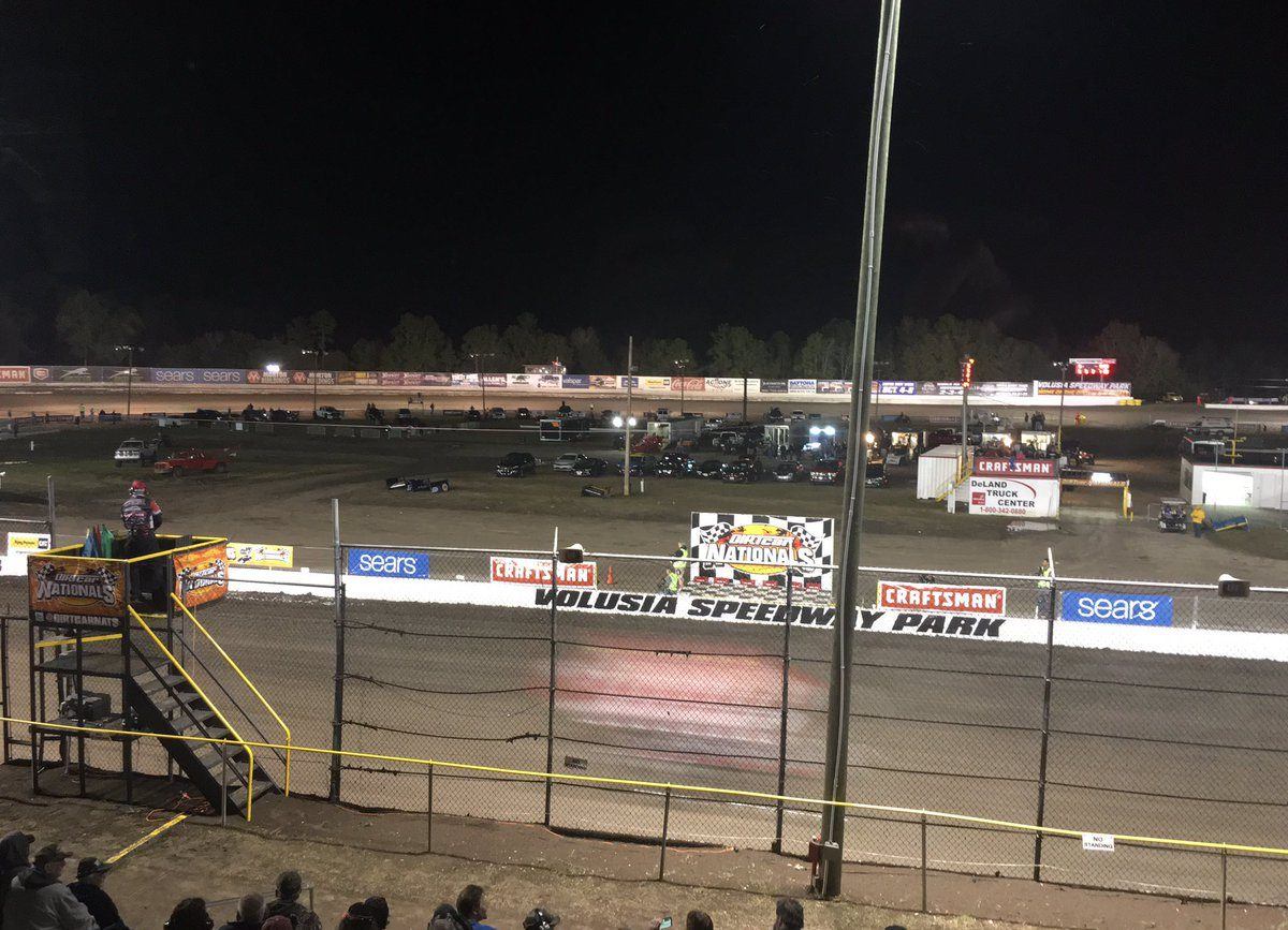 Sprint Car into Stands, Fans Injured - Volusia Speedway Park Sprint Car into Stands