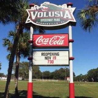 Volusia Speedway Sign