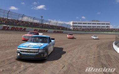 iRacing NASCAR Dirt Truck Screenshot - Eldora Speedway