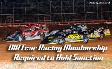 DIRTcar Racing Membership Required - Sanction Issues Warning