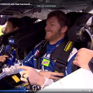 Dale Earnhardt Jr Drives Mark Zuckerberg in Racecar