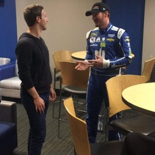 Dale Earnhardt Jr Mark Zuckerberg