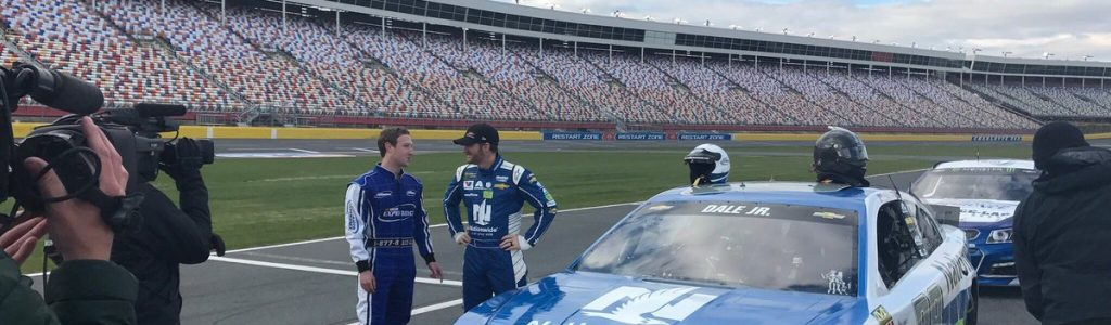 Mark Zuckerberg NASCAR visit with Dale Earnhardt Jr – Drives a Racecar