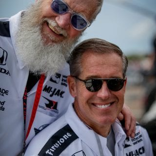 David Letterman and Brian Williams INDYCAR Event