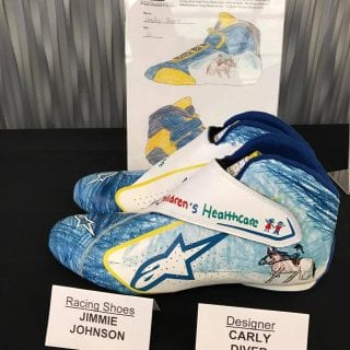 Jimmie Johnson Hand Painted Racing Shoes