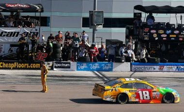 Kyle Busch Waiting for Joey Logano