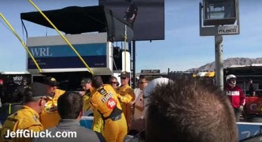 Kyle Busch vs Joey Logano Fight - Punches Thrown at Las Vegas Motor Speedway