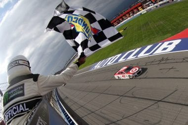 Kyle Larson Wins at Auto Club Speedway - March 26, 2017