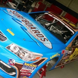 Leavine Family Racing Surfboards Paint Scheme Photo