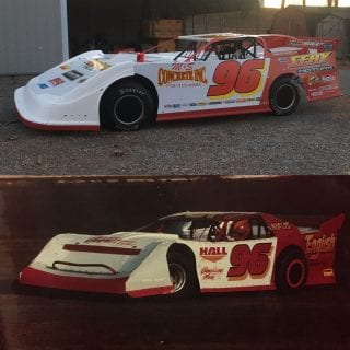 Terry English Throwback car driven by Tanner English