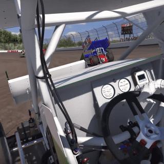 iRacing Dirt Sprint Car Incar View