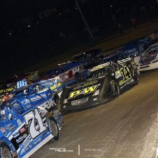 Batesville Motor Speedway 4 Wide Salute 2073