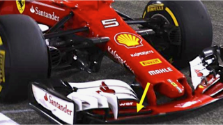 Ferrari SF70H New Front Wing