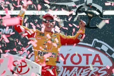 Joey Logano victory lane Richmond International Raceway Monster Energy NASCAR Cup Series