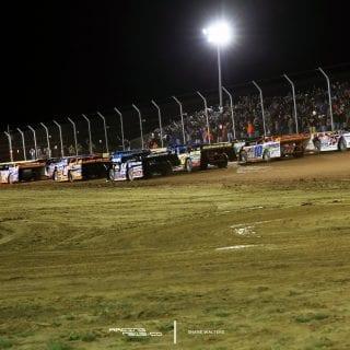 Sharon Speedway 4 Wide Salute 3186