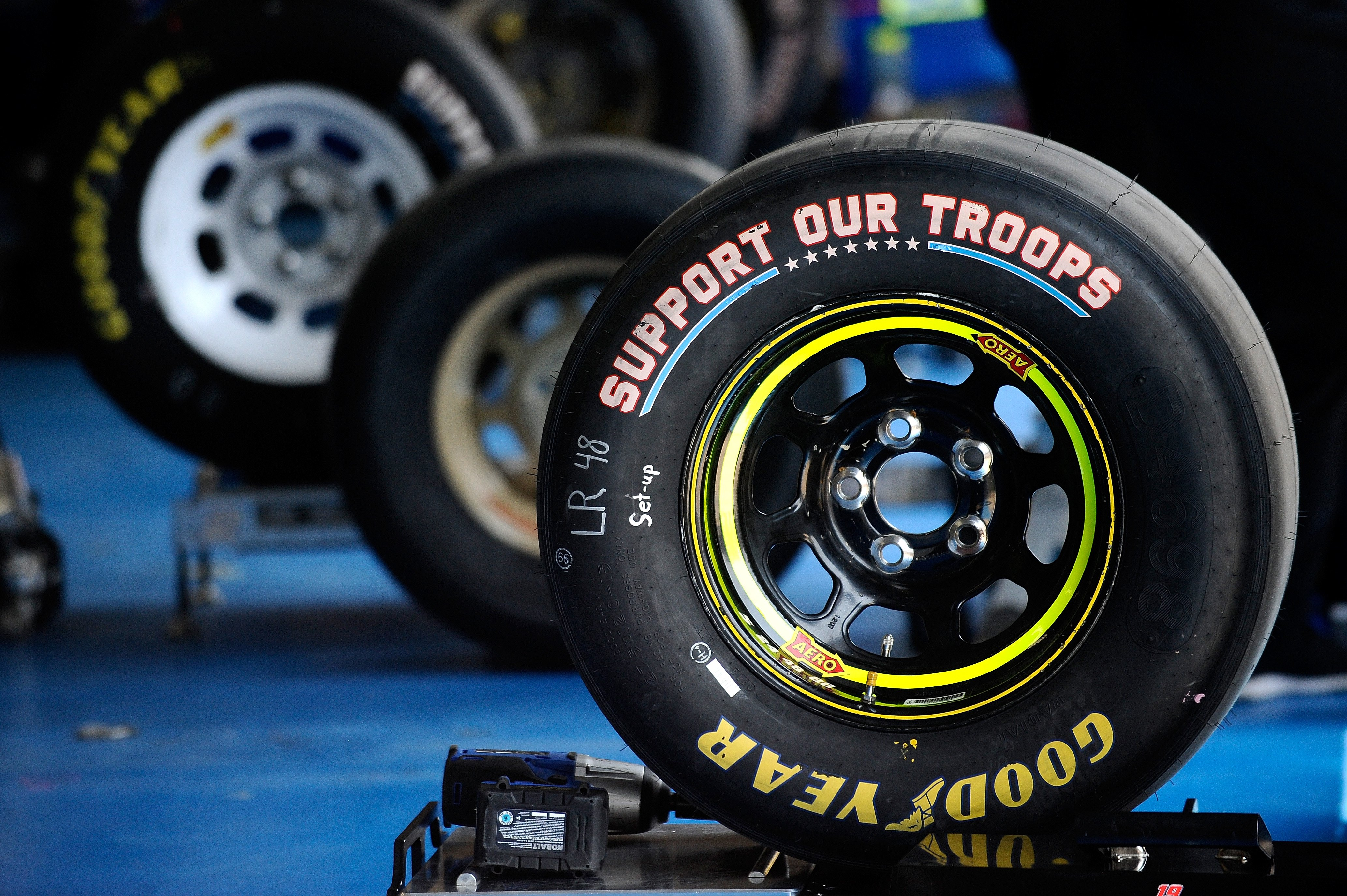 Two Goodyear Tire Compounds - Charlotte Motor Speedway