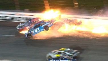 Aric Almirola Kansas Crash