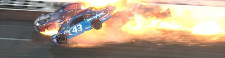 Despite a fiery crash that nearly ended his career, Aric Almirola is excited for Kansas Speedway