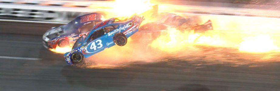 Aric Almirola Crash at Kansas Speedway