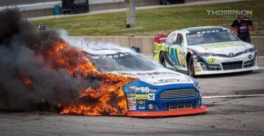 Brian Finney Fire - ARCA Racing Series