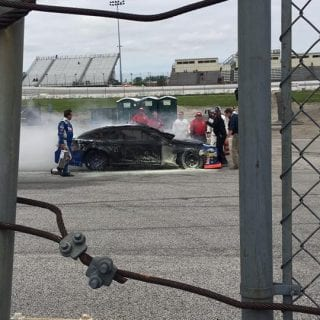 Brian Finney Toledo Speedway Racing Fire