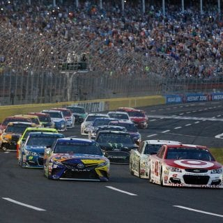 Charlotte Motor Speedway VHT Traction Compound in Use - Kyle Busch Comments