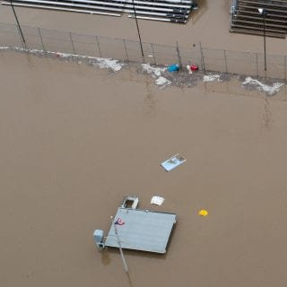 Dirt Track Flooding Aerial Photos